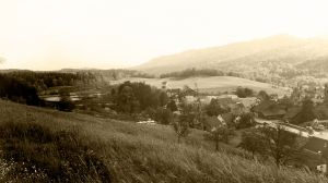 Gattikon 1975 - Blick ins Dorf