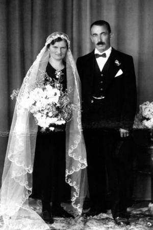 Hochzeitsbild Kessler-Diethelm Melchior und Justina