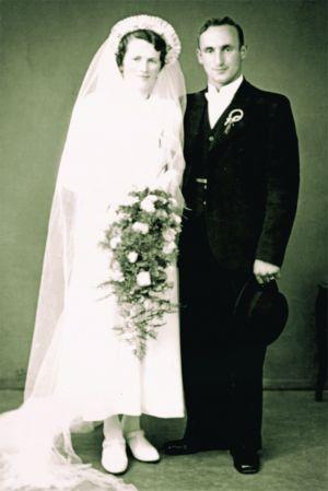 Hochzeitsbild Kessler-Oetiker Josef und Anna