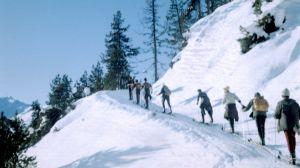 Skilager Davos - Aufstieg mit Fellen